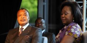 Le président congolais, Denis Sassou Nguesso avec son épouse.