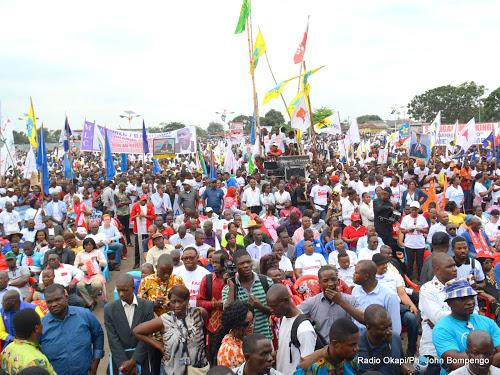 Manifestation d'un groupe de l'opposition congolaise le 15/09/2015 à Kinshasa