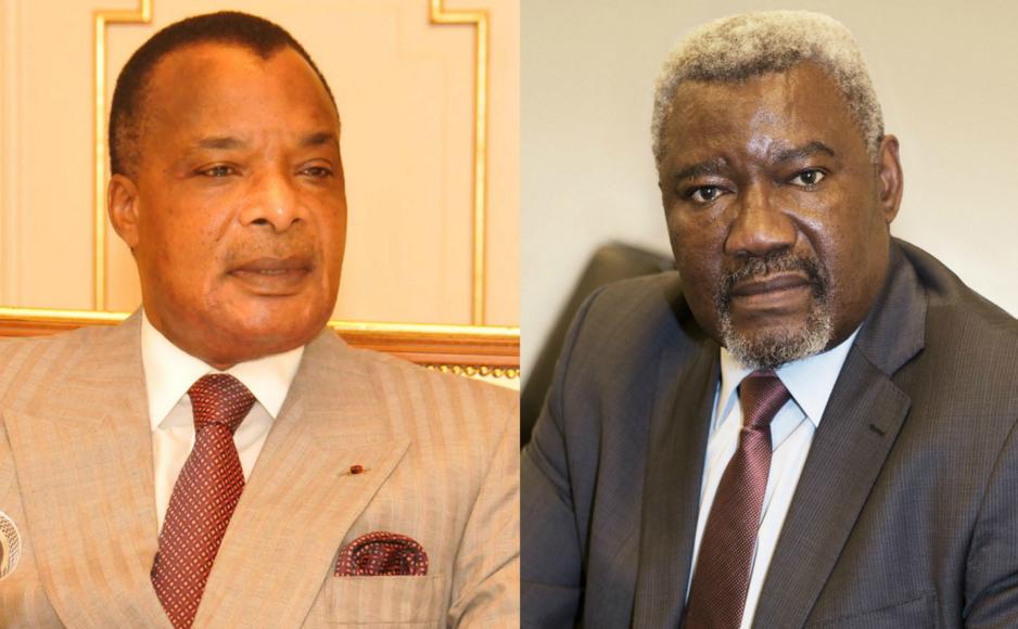 Le Président congolais Sassou N'guesso et son ancien ministre de la Défense, Charles Zacharie Bowao|© ICIBRAZZA/Montage