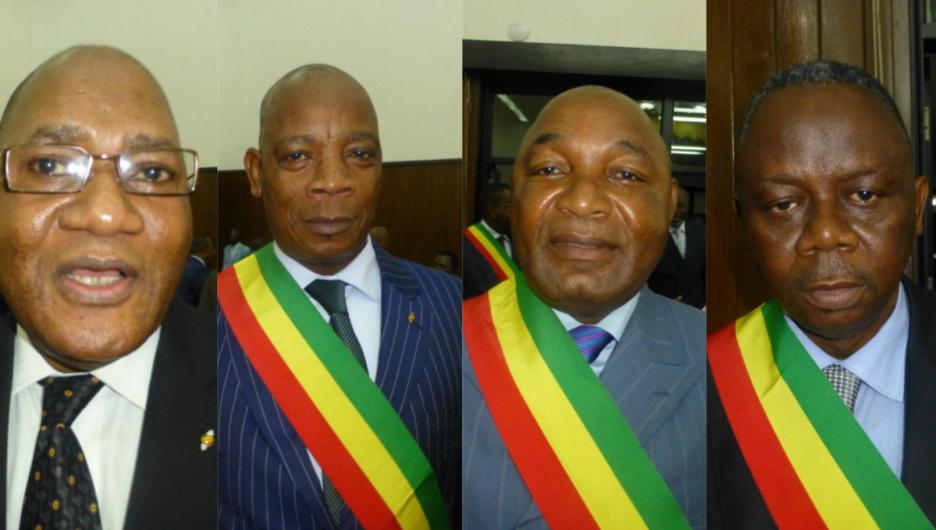 Alphonse Nkoua, Michel Bidimbou, Faustin Elenga, et Honoré Nsayi