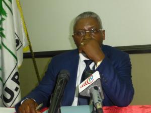 Le secrétaire de l'Union panafricaine pour la démocratie sociale (Upads), Pascal Tsaty Mabiala