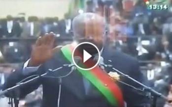 Kaboré prête serment, jurant de garantir la justice à tous les habitants du Burkina