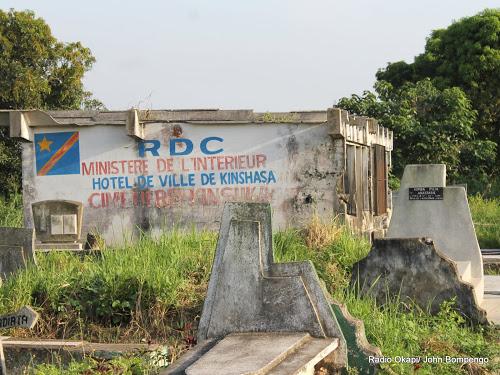 Bâtiment administratif du cimetière de Kinsuka le 20/02/2013 à Kinshasa