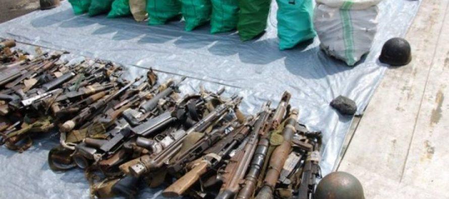 RDC : Dix tonnes de munitions et 500 kg d'armes à feu en cours de destruction à Bunia