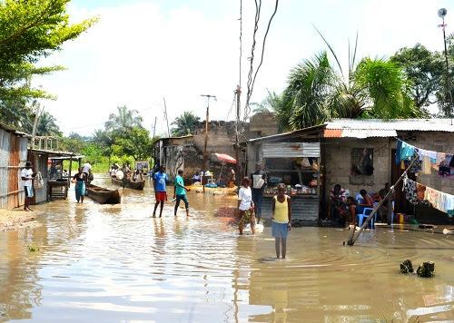 Le quartier Maziba, dans la commune de Matete, après la pluie
