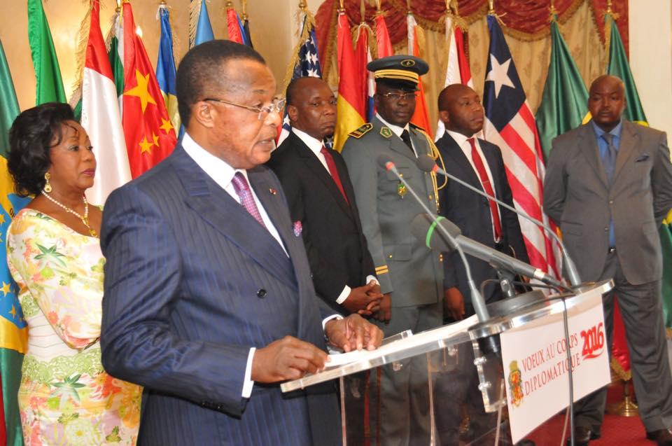Le président congolais, Dénis sassou Nguesso, a au cours de la cérémonie d'échanges des vœux de Nouvel An mercredi avec les chefs de missions diplomatiques accrédités au Congo