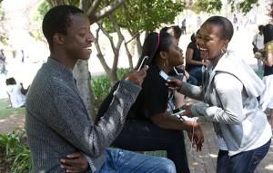 Un groupe d'étudiants à l'université de Johannesburg (Afrique du Sud).Photo:Africa Media Online/Antony Kaminju
