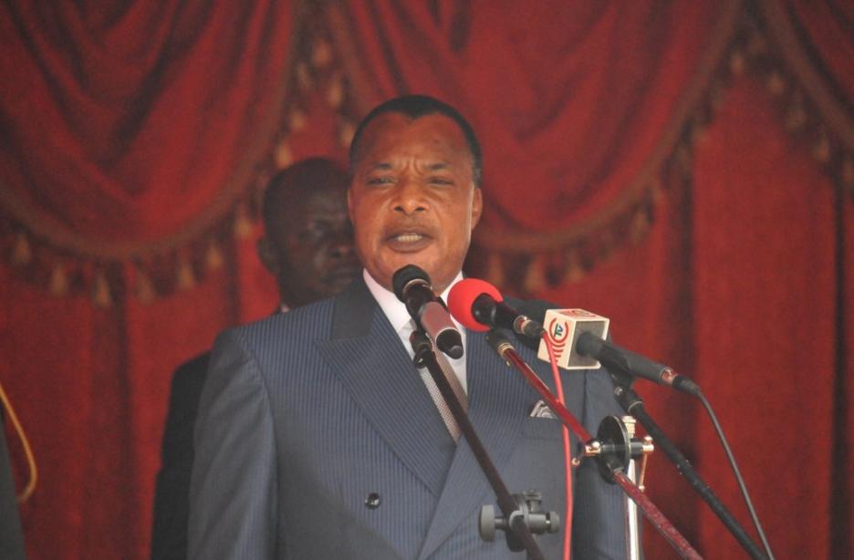 Le Président,  Denis Sassou-N'guesso