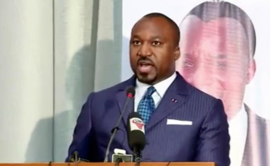Christel Sassou Nguesso, fils de Denis Sassou Nguesso, parrain de la Dynamique pour la Nouvelle République