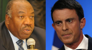 Le Président gabonais Ali Bongo Ondimba et  le premier ministre français Manuel Valls