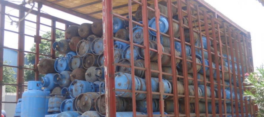 Pointe-Noire : près de 500 bouteilles de gaz de cuisine saisies par les services de commerce