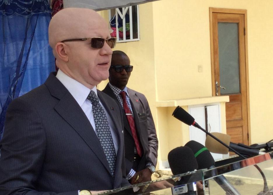 Le Ministre de la Communication et des Médias, porte-parole du gouvernement, Thierry Moungalla