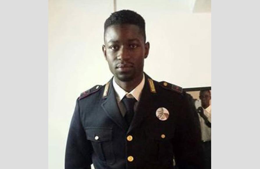 Le sénégalais El Hadji Guèye, un noir devenu policier italien