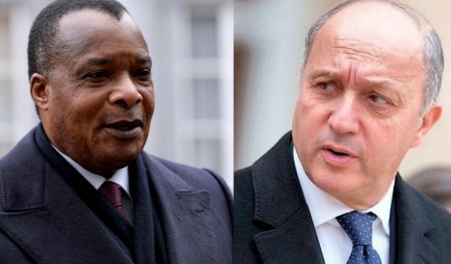 Denis Sassou Nguesso et Laurent Fabius