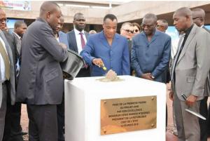 Le président congolais Denis Sassou Nguesso, candidat à sa propre succession, a lancé lundi à Brazzaville le chantier d'un nouvel hôpital