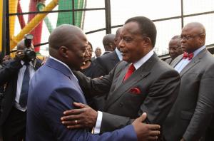 Les Présidents Joseph Kabila Kabangue et Denis Sassou N'Guesso