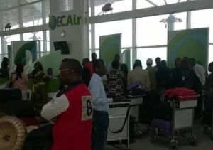 La compagnie aérienne Ecair a encore fait des déçus aujourd'hui à Brazzaville