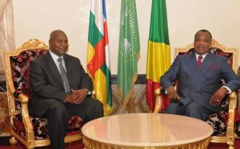 Le nouveau Président élu de la République centrafricaine Touadéra à Brazzaville