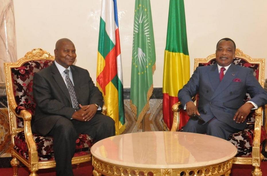 Faustin Touadéra et Sassou Nguesso