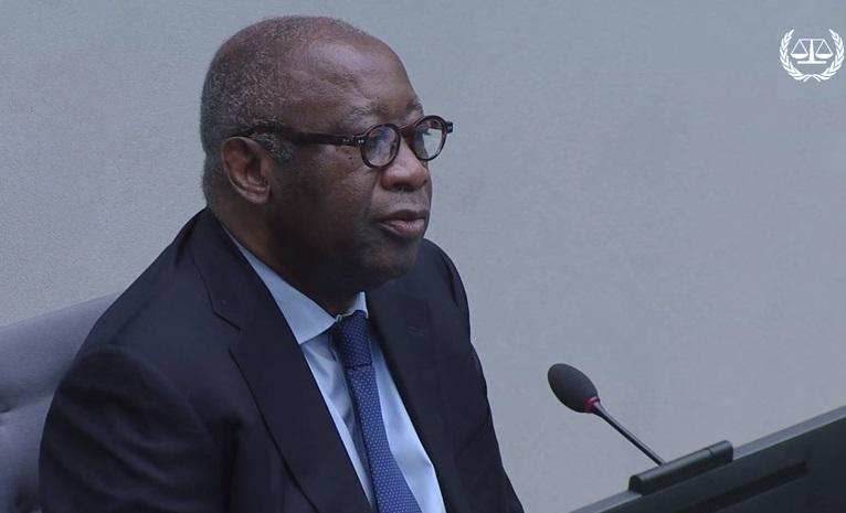 L'ex-président ivoirien Laurent Gbagbo attend son procès devant la Cour pénale internationale de la Haye, le 28 janvier 2016