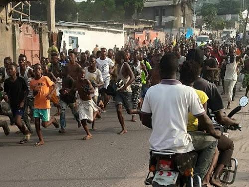 La liesse dans les rues de Kinshasa, capitale de la RDC après la victoire des Léopards sur les Amavubis du Rwanda, samedi 30 janvier à Kigali, lors du Chan 2016. Radio Okapi/Ph Caniche Mukongo.