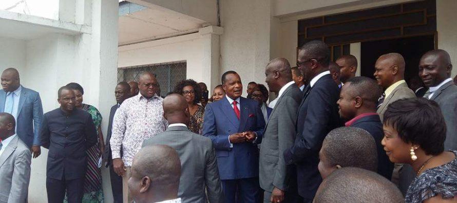 En Images – Congo : l'opposition a fait sortir Sassou Nguesso de son Palais