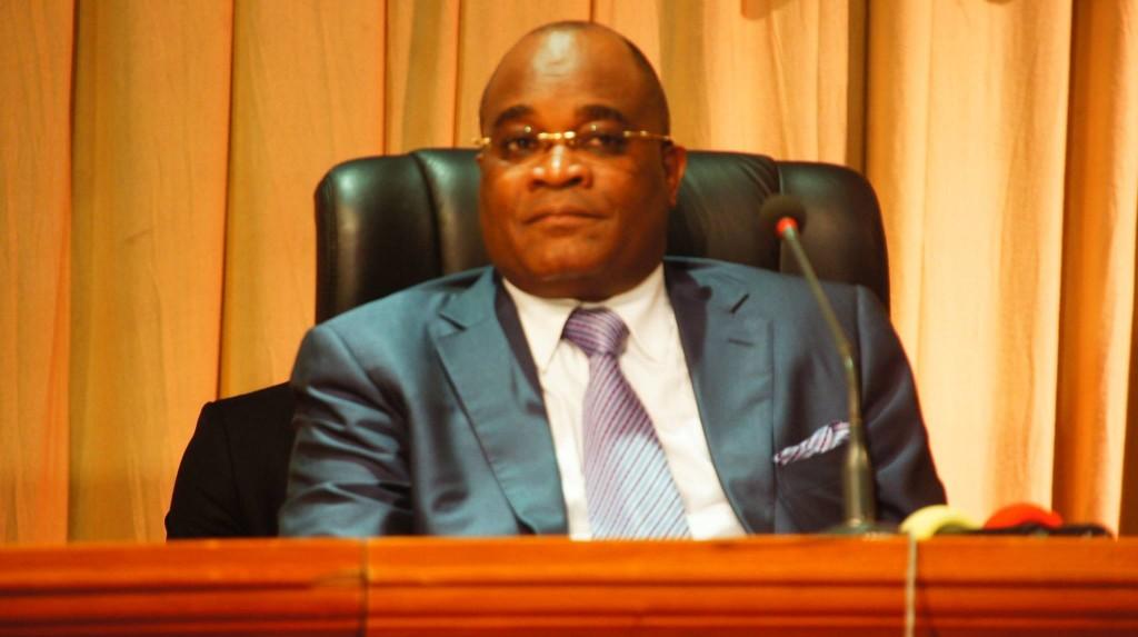 Le 27 février à Brazzaville, le candidat de l'Initiative pour la démocratie au Congo (IDC), André Okombi Salissa