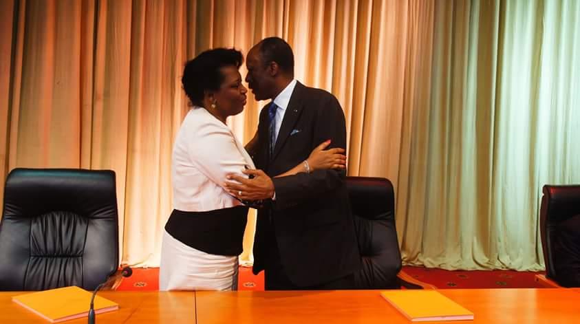 Jean-Marie Michel Mokoko et Claudine Munari Mabondzo