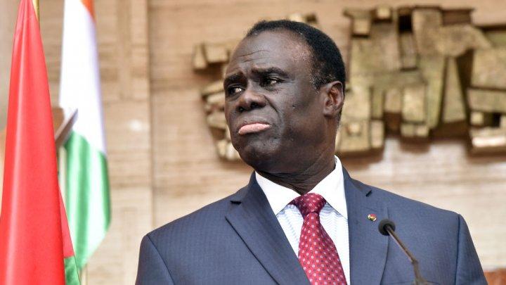 L'ancien président par intérim Michel Kafando , le 31 juillet à Abidjan Photo Issouf Sanogo. AFP