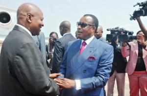 Faustin Touadera auprès de Denis Sassou Nguesso