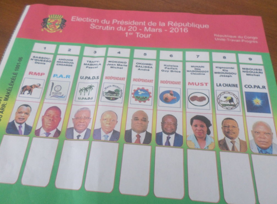bulletin de vote au Congo