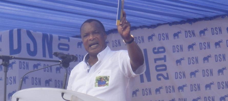Sassou Nguesso : «Le 20 mars, ça sera un penalty tiré et marqué et puis c'est la victoire»