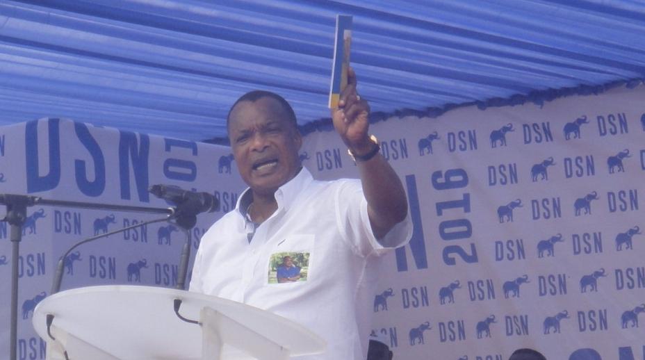 Le président de la République sortant, candidat du Rassemblement de la majorité présidentielle (RMP) à l'élection du 20 mars a indiqué, lors de son meeting samedi à Pointe-Noire
