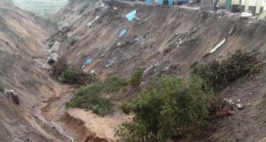 La deuxième sortie Nord de Brazzaville menacée par une forte érosion