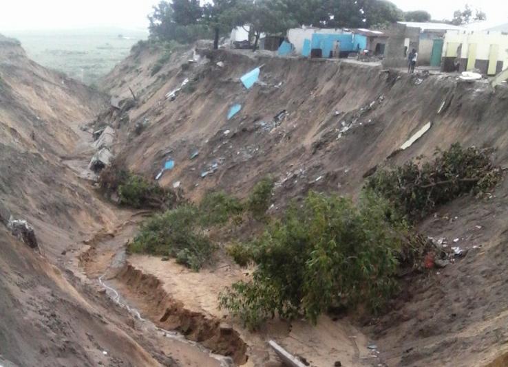 Une vue du ravin de Ngamakosso
