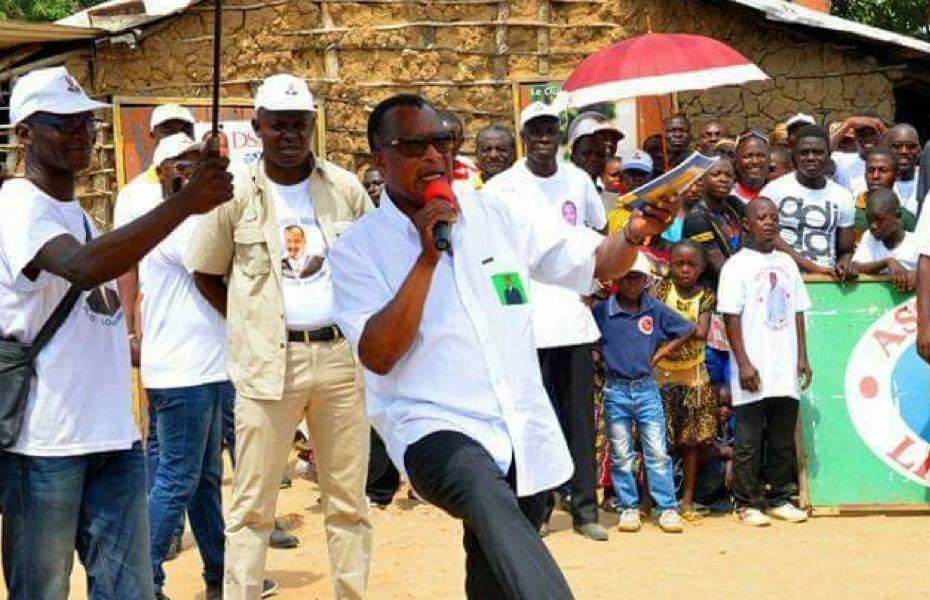 La danse de Sassou pour clôture la campagne à Gamboma