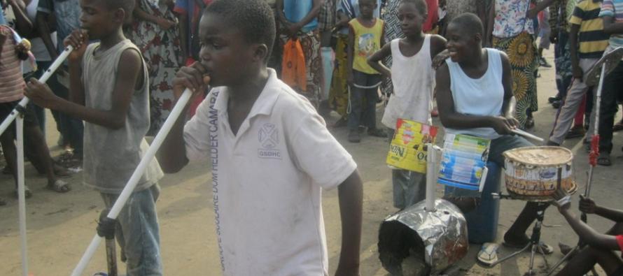 Congo-Brazzaville : un groupe de jeunes adolescents surprend le public ponténégrin
