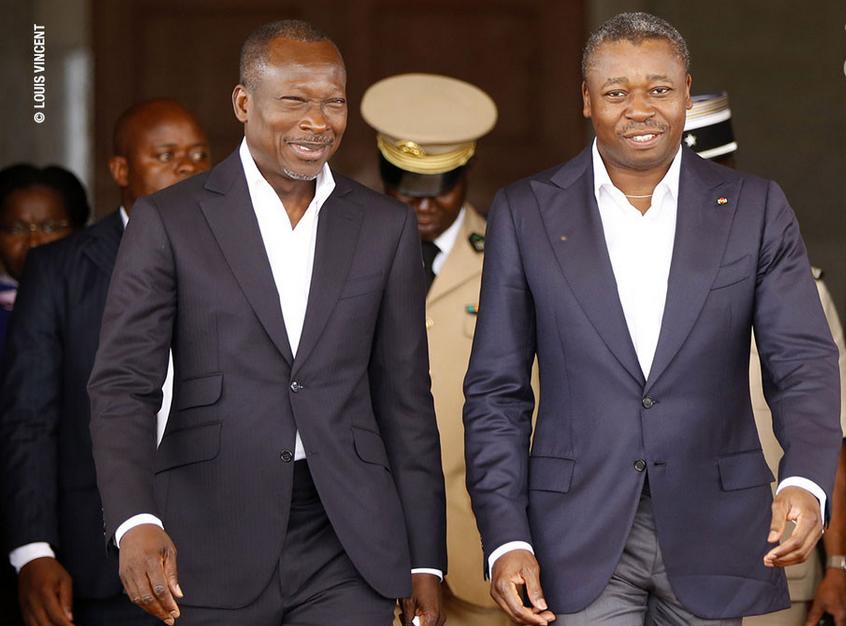 Patrice Talon et Faure Gnassingbé