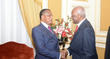Angola: José Eduardo dos Santos félicite Sassou Nguesso pour sa réélection