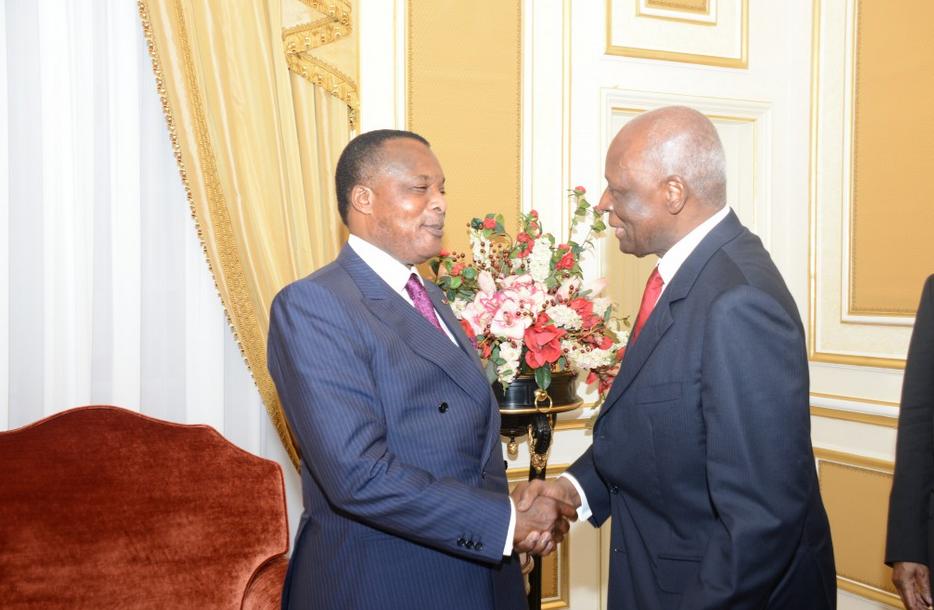 Les Président, José Eduardo dos Santos et Denis Sassou Nguesso
