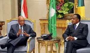 Les présidents, Jacob Zuma et Denis Sassou N'Guesso