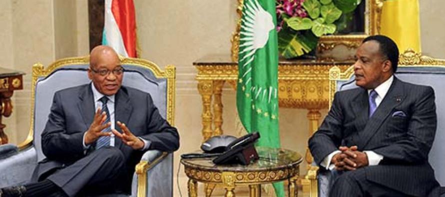 Afrique du Sud : Jacob Zuma félicite Sassou N'Guesso pour sa réélection