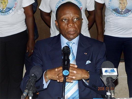 Jean-Marie Michel Mokoko, lundi 7 mars 2016, à l'hôtel Olympic Palace, à Brazzaville