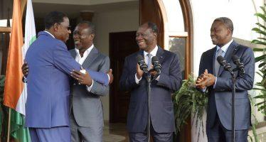 Bénin: A Abidjan, Ouattara et Gnassingbé réconcilient Talon et Boni