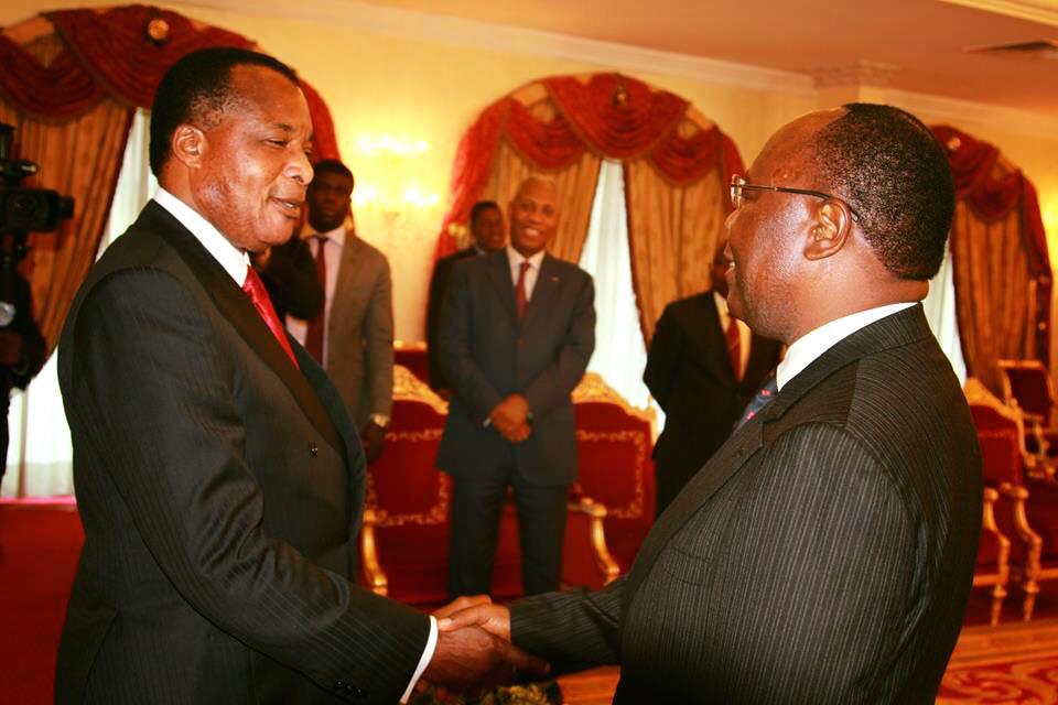 Le président Denis Sassou Ngeusso et Clément Mouamba