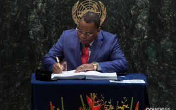 NEW YORK – COP21: le Congo signe l'Accord de Paris sur le changement climatique
