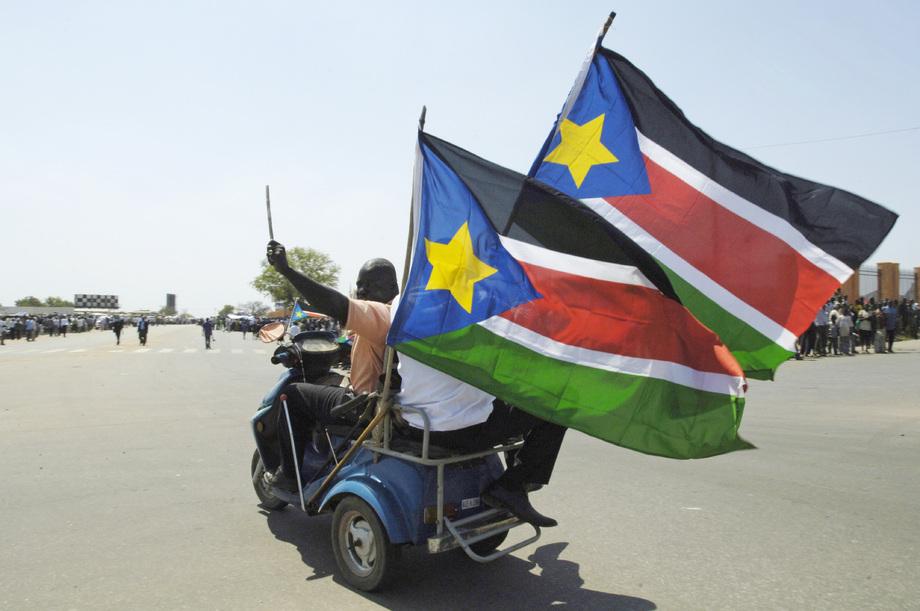 Le drapeau du Soudan du Sud