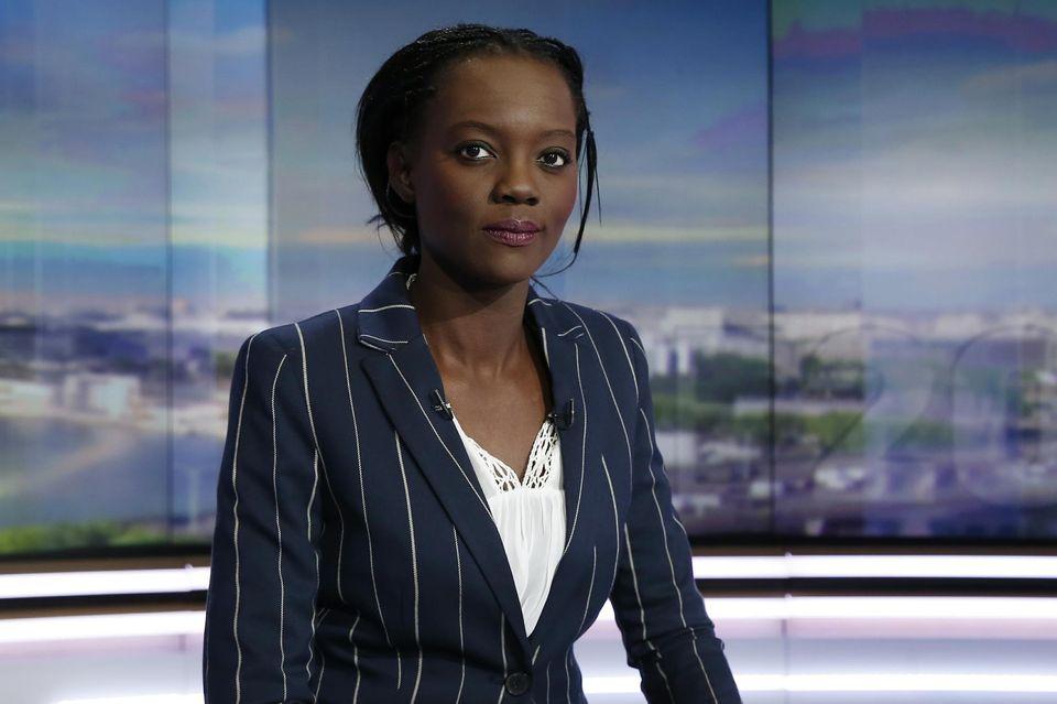 Rama Yade sur le plateau du 20 heures de TF1, le 21 avril. Photo Thomas Samson. AFP