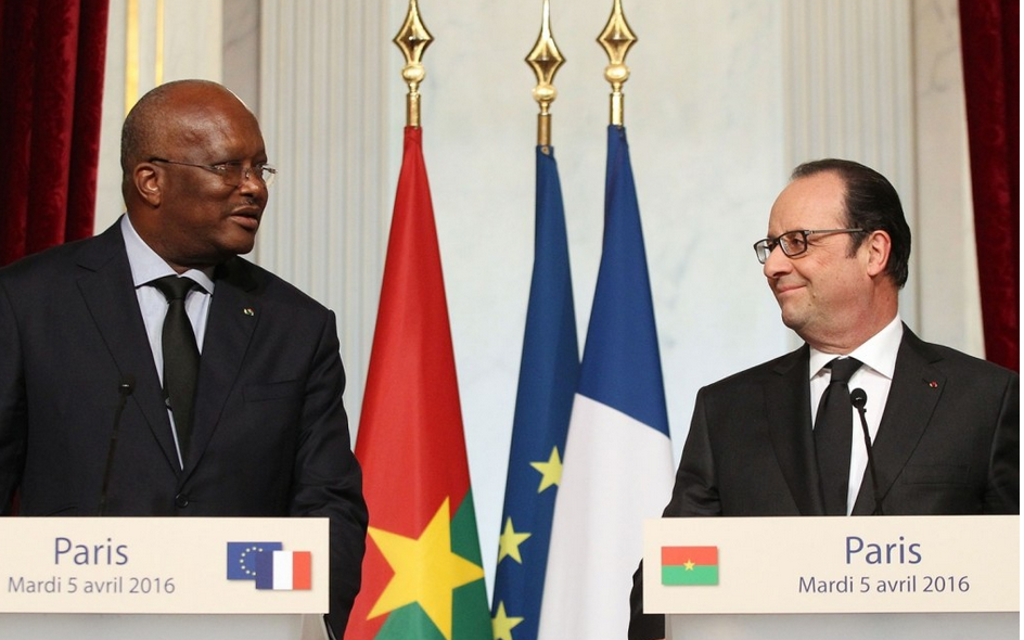 Roch Marc Christian Kabore et Francois Hollande