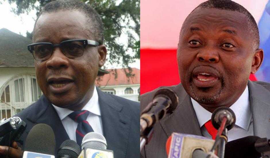 Ancien ministre des zones économiques au Congo, Alain Akouala et Vital Kamerhe, président du parti Union nationale pour le Congo (RDC)